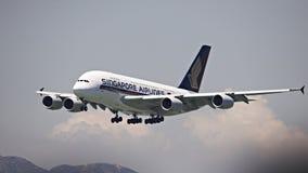 Línea aérea A380 de Singapur fotografía de archivo