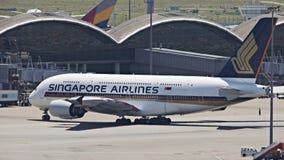 Línea aérea A380 de Singapur fotografía de archivo libre de regalías
