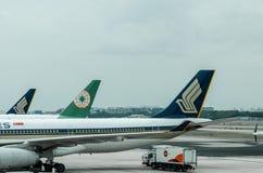 Línea aérea de Singapur en el terminal de aeropuerto de Changi 1 Fotografía de archivo libre de regalías