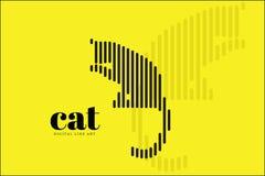 Línea abstracta arte, Cat Action, bandera del diseño del ejemplo del vector, fondo de Digitaces Fotos de archivo libres de regalías