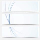 Línea abstracta azul colección de la onda de Swoosh de los jefes del web halftone Imágenes de archivo libres de regalías