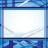 Línea abstracta azul plantilla del fondo Fotos de archivo