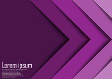 Línea abstracta backgrou de la onda de la flecha de la violeta 3d del extracto del certificado Fotografía de archivo