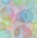 Línea abstracta color del fondo del círculo EPS10 Imagen de archivo libre de regalías