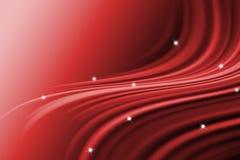 Línea abstracta con el fondo rojo ondulado Imagen de archivo libre de regalías