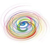 Línea abstracta de la onda del arco iris Foto de archivo