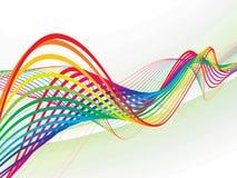 Línea abstracta de la onda del arco iris Foto de archivo libre de regalías