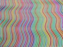 Línea abstracta del fondo de lápiz del creyón del color Foto de archivo libre de regalías