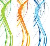 Línea abstracta fondo de la onda Foto de archivo libre de regalías