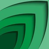 Línea abstracta fondo de la onda de la flecha del verde 3d del extracto del certificado Fotografía de archivo libre de regalías