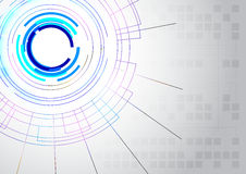 Línea abstracta fondo de la tecnología Foto de archivo