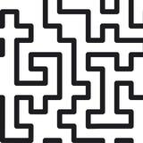 Línea abstracta fondo del laberinto Textura inconsútil Imagen de archivo