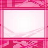 Línea abstracta rosada plantilla del fondo Imagen de archivo