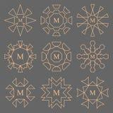 Línea abstracta sistema del monograma de la compañía del diseño Foto de archivo