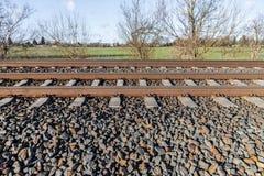 Línea alemana del ferrocarril fotos de archivo libres de regalías