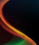 Línea amarilla abstracta diseño del fondo del arte Fotografía de archivo