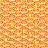Línea anaranjada modelo inconsútil del brillo a medias de oro stock de ilustración