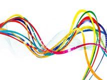 Línea artística abstracta fondo de la onda Imagen de archivo libre de regalías