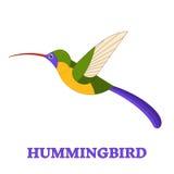 Línea Art Icon del colibrí Fotos de archivo libres de regalías