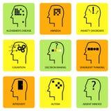 Línea Art Icon Of Human Mind Imagen de archivo libre de regalías