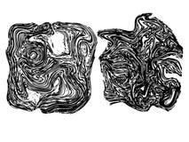 Línea Art Stone Texture Fotografía de archivo