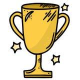 Línea Art Vector Illustration Clip Art del trofeo del oro Foto de archivo