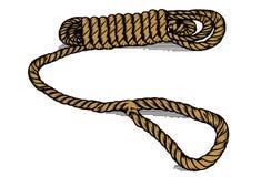 Línea arte de la cuerda Fotografía de archivo libre de regalías