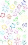 Línea arte de la flor Fotografía de archivo libre de regalías