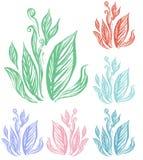 Línea arte de la hoja Foto de archivo libre de regalías