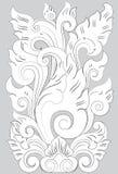 Línea arte de Mataram del adorno stock de ilustración