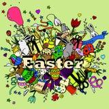 Línea arte del vector del diseño de Pascua Foto de archivo