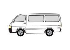 Línea arte - furgoneta Imagenes de archivo