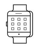 Línea arte, icono simple de Smartwatch del artilugio Foto de archivo libre de regalías