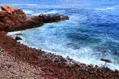 Línea atlántica Maine de la costa Imagenes de archivo