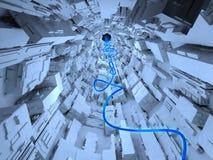 Línea azul Imagen de archivo libre de regalías