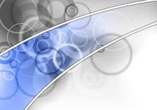 Línea azul ilustración del vector