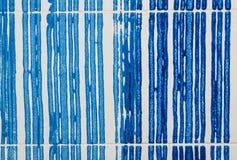 Línea azul en la pared foto de archivo libre de regalías