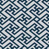Línea azul japonesa modelo del laberinto libre illustration