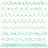 Línea azul vector de la onda de las ondas lineares determinadas del modelo Imagen de archivo libre de regalías