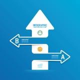 Línea bandera de la flecha de las opciones del infographics puede ser utilizado para el infograph Imágenes de archivo libres de regalías