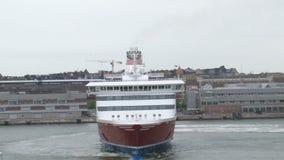 Línea barco de cruceros de Viking en Helsinki metrajes