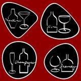 Línea bebidas del arte ilustración del vector