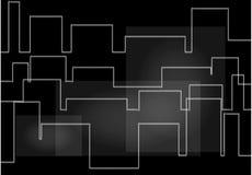 Línea blanca del wiith abstracto negro del fondo Foto de archivo