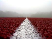 Línea blanca en #2 rojo Imagenes de archivo