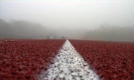 Línea blanca en rojo Foto de archivo