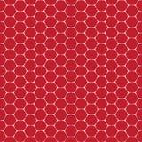 Línea blanca roja modelo inconsútil del vector de la forma del ladrillo del hexágono Fotografía de archivo libre de regalías