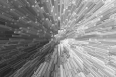 Línea blanca suave tecnología de la explosión libre illustration
