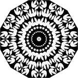 Línea blanco y negro arte Mandala Illustration de la hoja floral Estrella, libre illustration