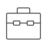 Línea bolso del icono Fotografía de archivo libre de regalías