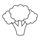 Línea bróculi del icono Foto de archivo